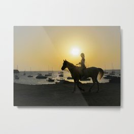 Judy and the Dream of Horses Metal Print
