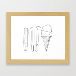 ICE CREAM Framed Art Print