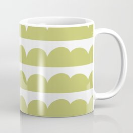 Shapes Nr.2 - Green Half Circles Coffee Mug