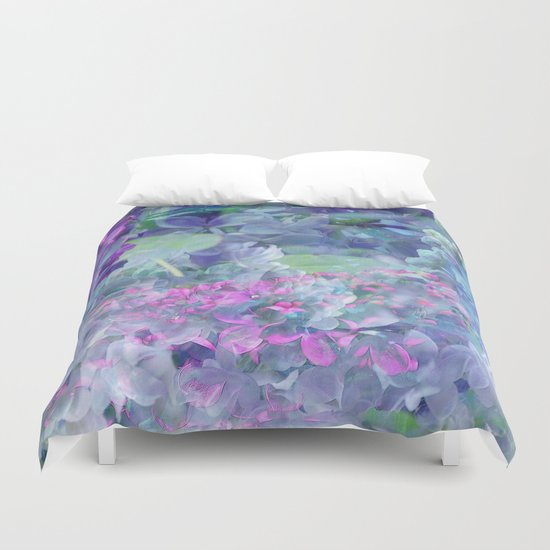 Lilac Bloom Duvet Cover