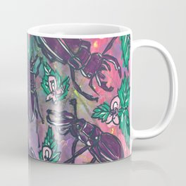 Stag Beetles and Stinging Nettles Coffee Mug