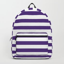 Purple and white university clemson alumni team sports football college Backpack