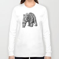 bioworkz Long Sleeve T-shirts featuring Ornate Bear by BIOWORKZ