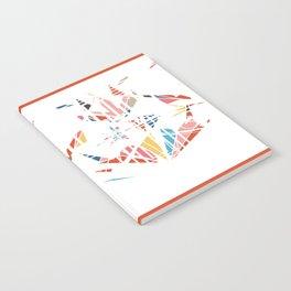 Medusa's Scream on White Notebook