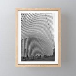 Oculus Streets   New York City, Black and White Film Photography Framed Mini Art Print