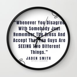 43  |  Jaden Smith Quotes | 190904 Wall Clock