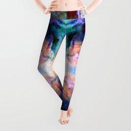 Fumi - Abstract Colorful Batik Butterfly Galaxy Mandala Leggings