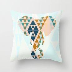 Gajraj - The Elephant Head Throw Pillow