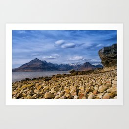 The Cuillin from Elgol, Isle of Skye Art Print