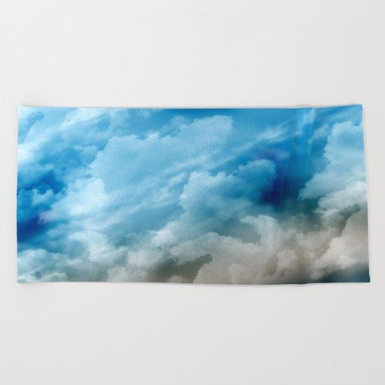 Clouds 2 Beach Towel