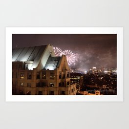 Fireworks Over Copley Art Print