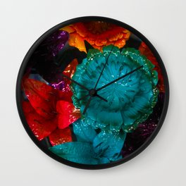 To Smell The Flowers Wall Clock