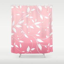 FLOWERY VINES | pink white Shower Curtain