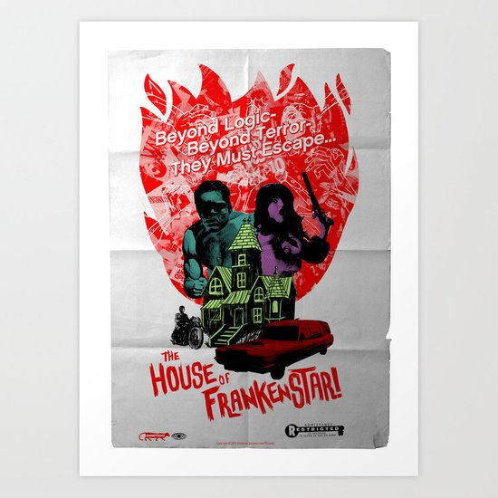 the HOUSE of FRANKENSTAR! Art Print