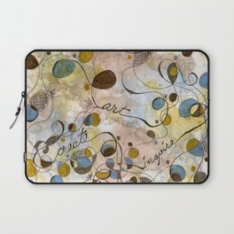 Flourish: Create, Art, Inpspire Laptop Sleeve