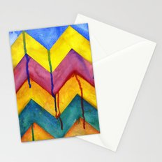 Watercolor Chevron Stationery Cards