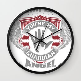 Lovesout - Dad, You're My Guardian Angel Wall Clock