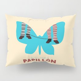 Papillon, Steve McQueen vintage movie poster, retrò playbill, Dustin Hoffman, hollywood film Pillow Sham
