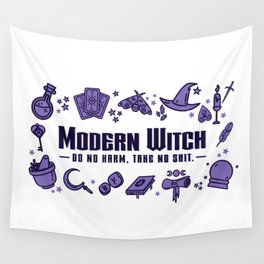 Modern Witch Do No Harm Wall Tapestry