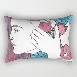 Nina's Portrait Rectangular Pillow