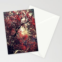 Red is the Tree that Grows Stationery Cards