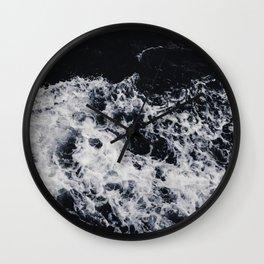 OCEAN - WAVES - SEA - ROCKS - DARK - WATER Wall Clock
