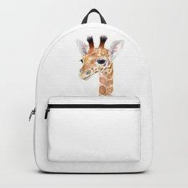 Baby Giraffe Cute Animal Watercolor Backpack
