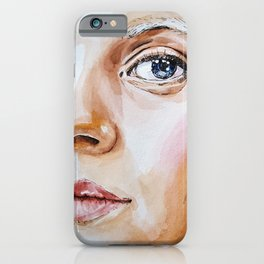 Girl with gray hair iPhone Case