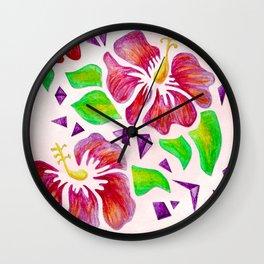 Flor De Maga - Original Colors Wall Clock