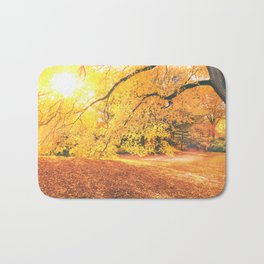 New York City Autumn Sun Bath Mat