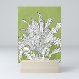 Banana Leaves Illustration - Green Mini Art Print