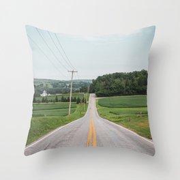 Rural Spring Grove Throw Pillow