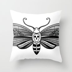 Acherontia Throw Pillow