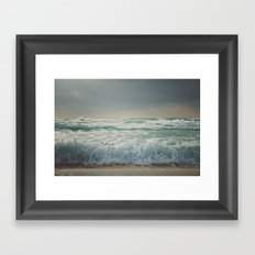 the sea - wave Framed Art Print