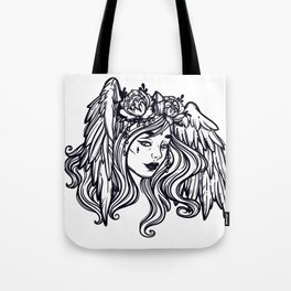 flying head.Gamayun.Sirin.Alconost. Tote Bag