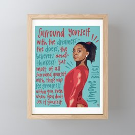 Simone Biles. Framed Mini Art Print