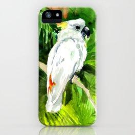 White Cockatoo in the Jungle iPhone Case