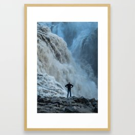 Staring into the power Framed Art Print