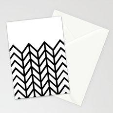 BLACK & WHITE LACE CHEVRON Stationery Cards