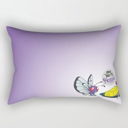 Lonely Butterfree Rectangular Pillow
