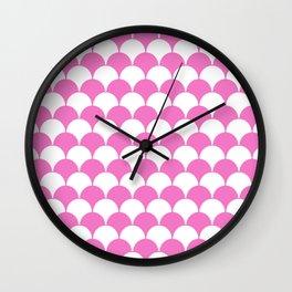 Fan Pattern 321 Pink Wall Clock
