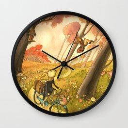 Bike Ride Through The Woods Wall Clock