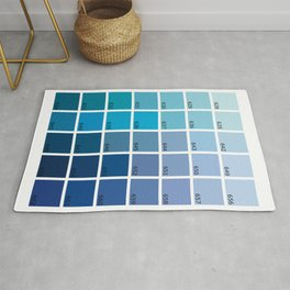 Shades of Blue Pantone Rug
