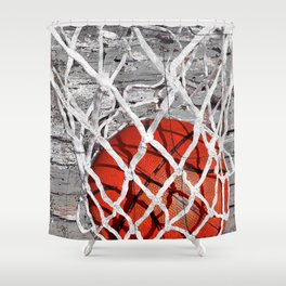 Basketball Art Shower Curtain