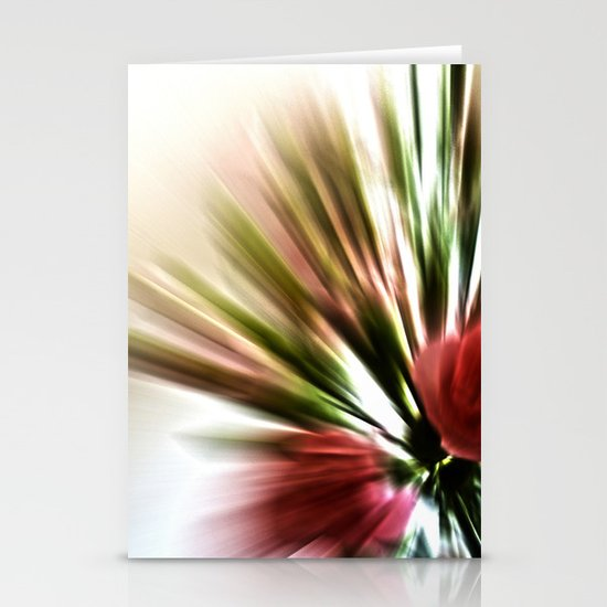Radial Roses Stationery Cards