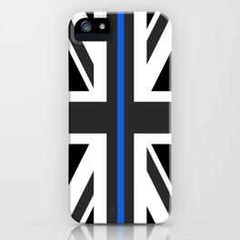 Thin Blue Line UK Flag iPhone Case