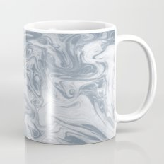 Shiori - spilled ink abstract water wave pantone blue marble grey monochromatic map nature ocean Mug