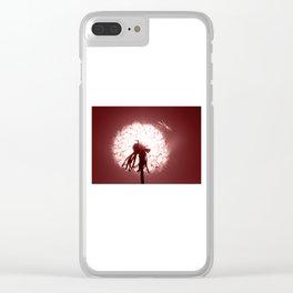 Dandelion 3 Clear iPhone Case