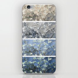 Vincent Van Gogh : Almond Blossoms Panel Art Blue Beige iPhone Skin