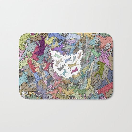 Cats Donut Galaxy - Rainbow Earth Bath Mat